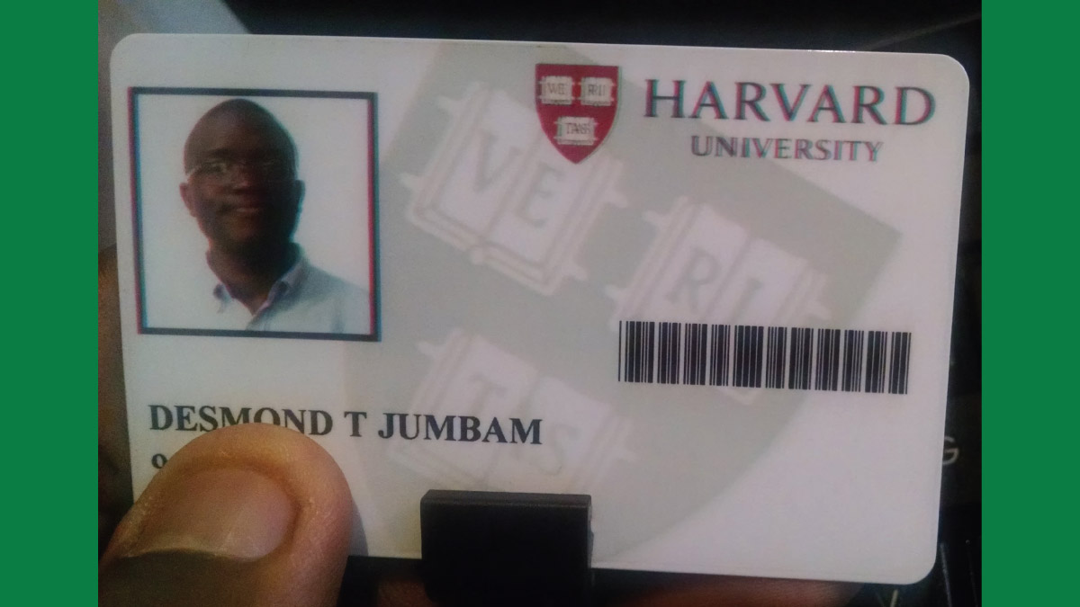 From Cameroon to Harvard: One man's journey of hope