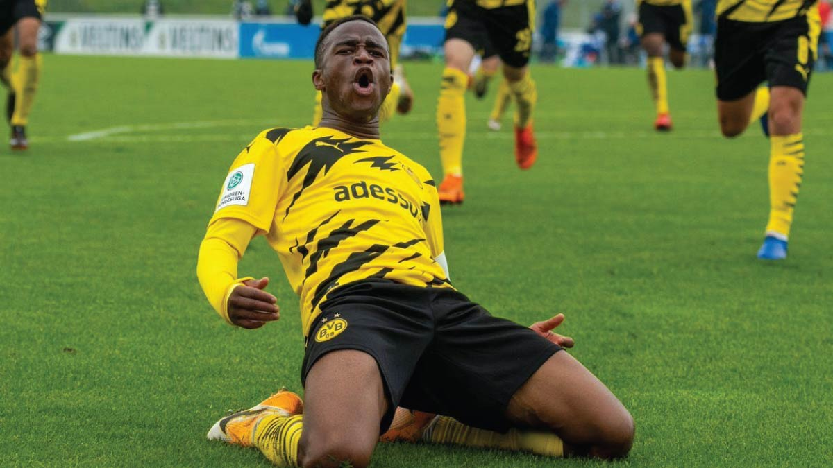 Cameroonian Youssoufa Moukoko Scores Nine Times In Three Matches
